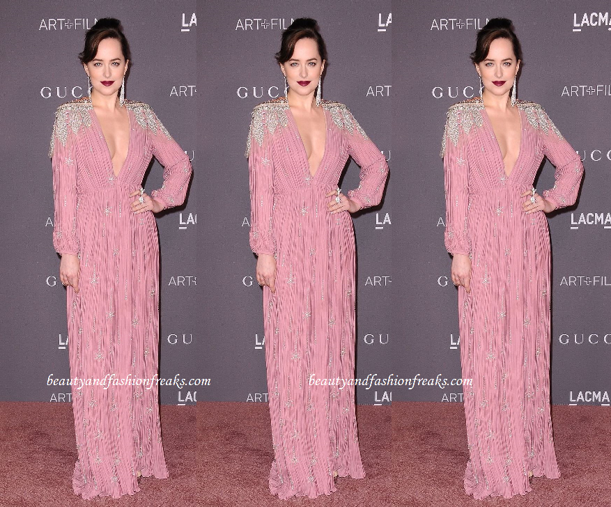 Dakota Johnson In Gucci gown at LACMA Art + Film Awards