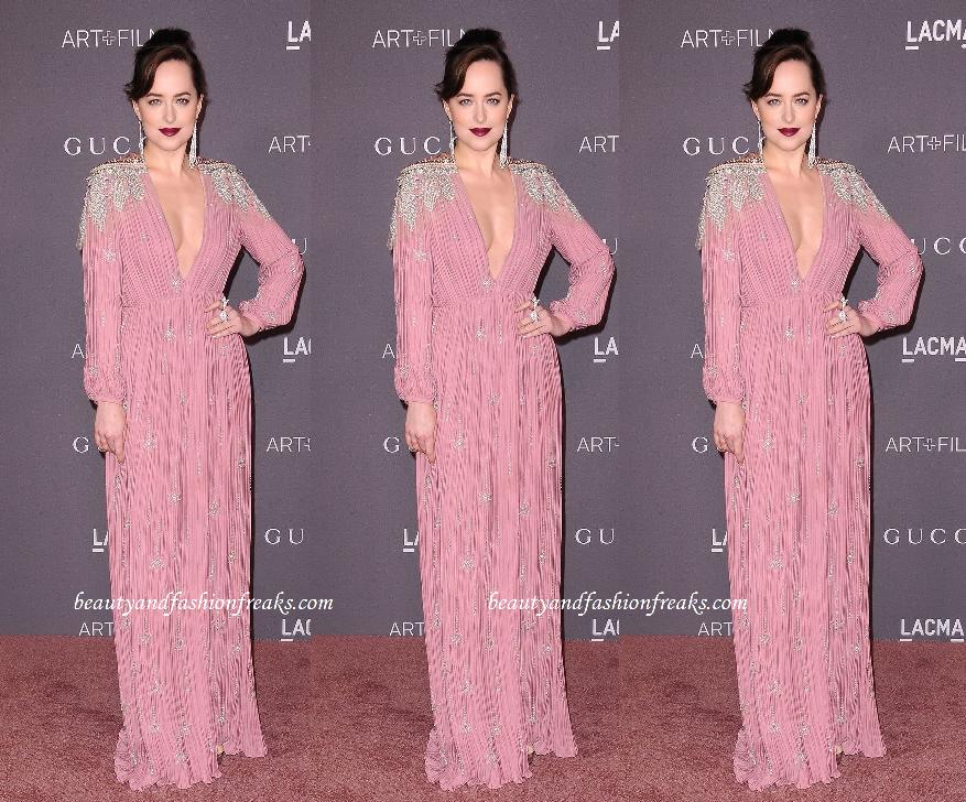Dakota Johnson In Gucci gown at LACMA Art + Film Awards
