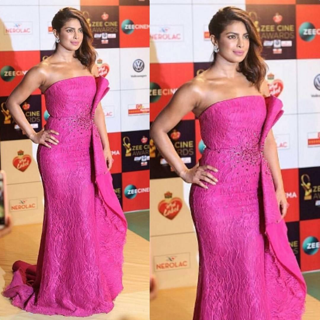0097db3fcd00 Priyanka Chopra In Zuhair Murad At Zee Cine Awards 2018