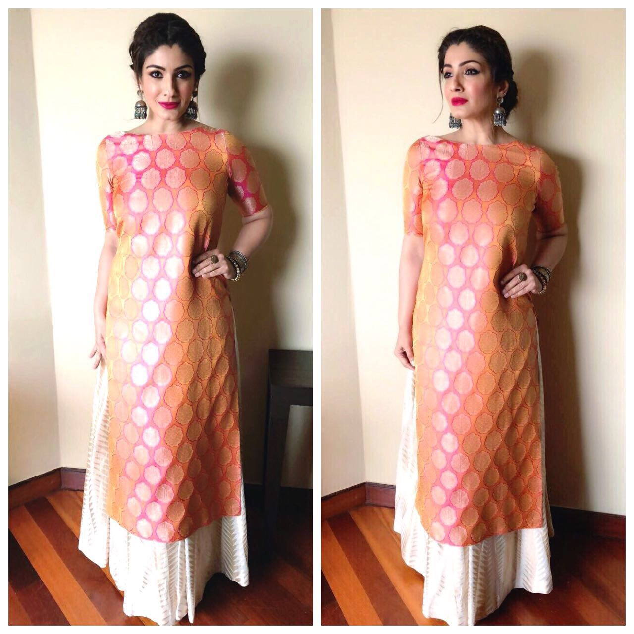 Raveena Tandon In Warp N Weft At Smile Foundation Event