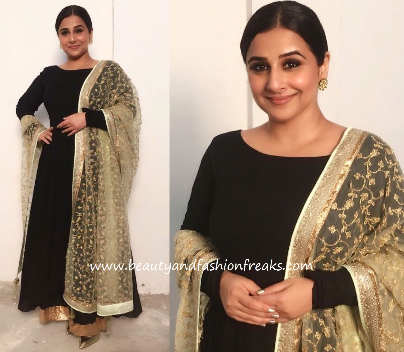 Vidya Balan In Vikram Phadnis At Power Brand Awards 2018
