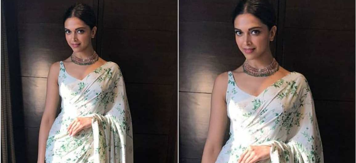 d50c8e3a7a3 Deepika Padukone Looking Lovely In Sabyasachi Sari